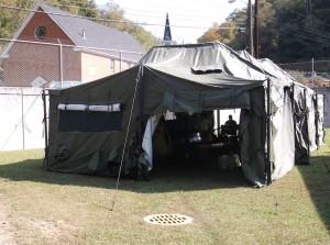 Guard tent